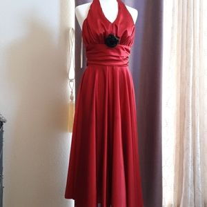 Red, vintage Prom dress, size 6